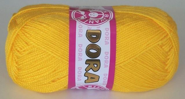 Pletací příze Dora sytě žlutá 029