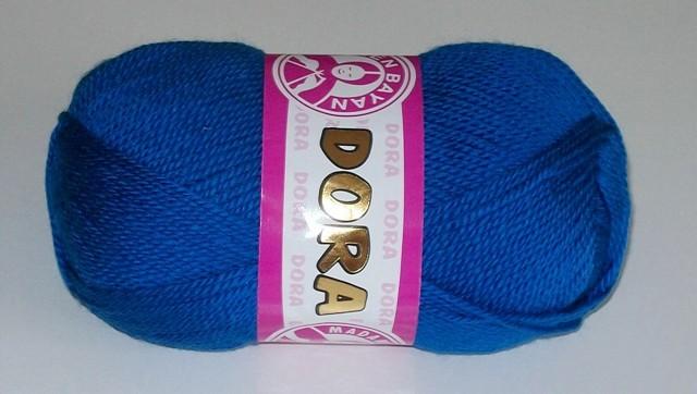 Pletací příze Dora královská modrá 016