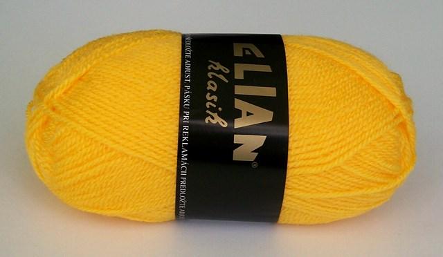 Pletací příze Elian Klasik č.184 sytě žlutá