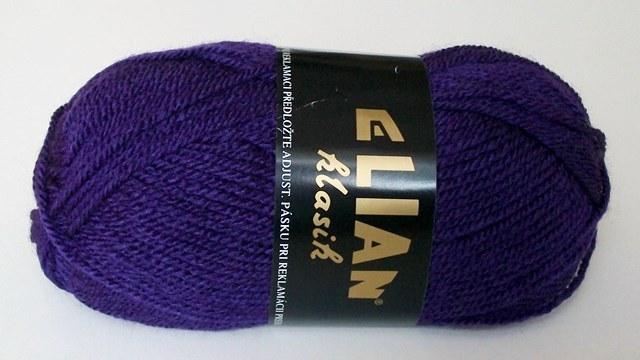 Pletací příze Elian Klasik č.3374 sytě fialová