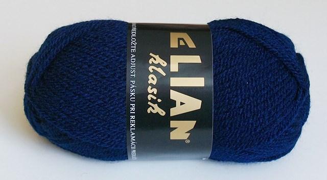 Pletací příze Elian Klasik č.148 tmavě modrá