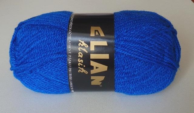 Pletací příze Elian Klasik č.133 královská modrá