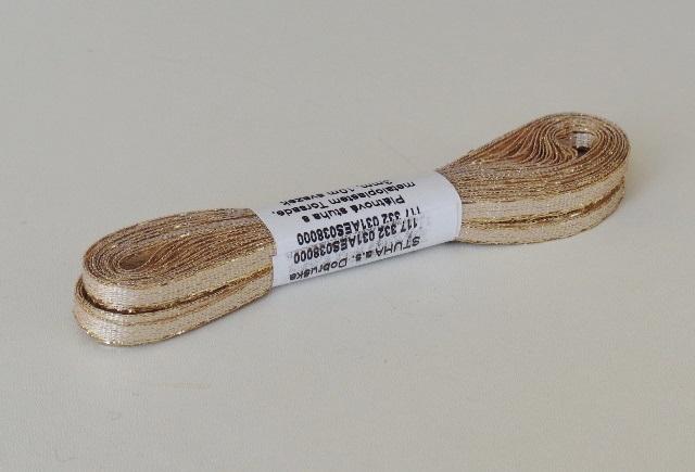 Stuha lurexová torsade 3 mm zlatá - 10 m