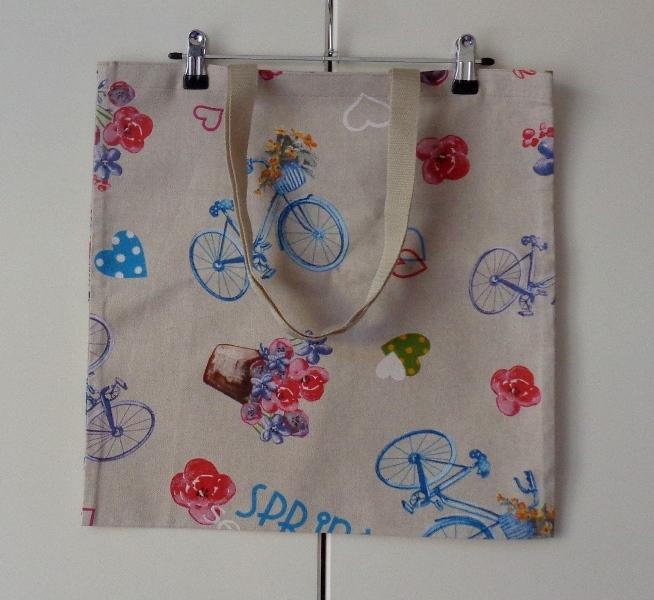 Nákupní taška textilní s jízdními koly