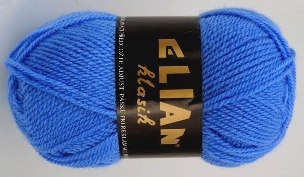 Pletací příze Elian Klasik č.1256 středně modrá