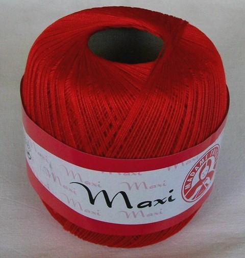 Háčkovací příze Maxi MT č.6328 červená