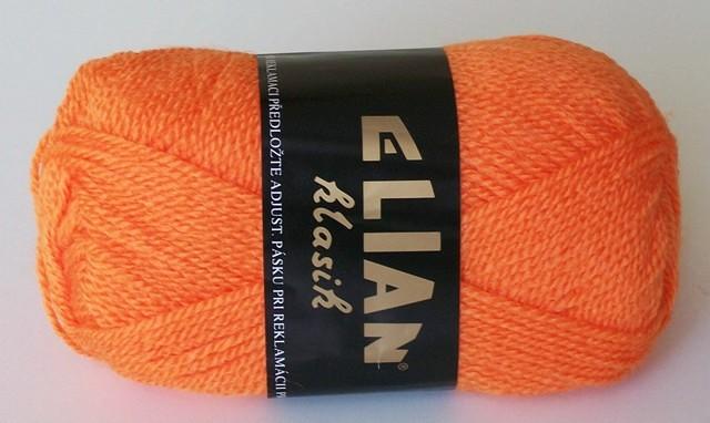 Pletací příze Elian Klasik č.5206 oranžová