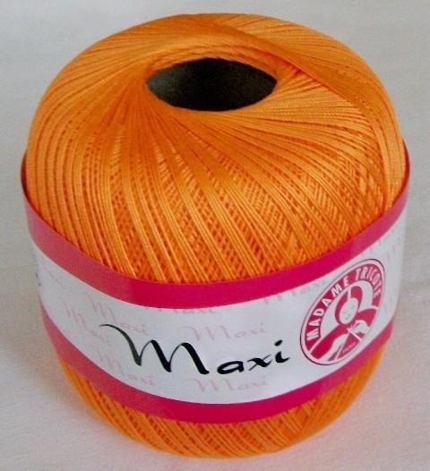 Háčkovací příze Maxi MT č.6350 oranžová