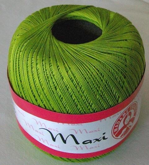 Háčkovací příze Maxi MT č.5527 krémová zeleň