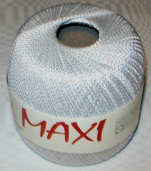 Háčkovací příze Maxi MT č.1003 bílá + stříbro