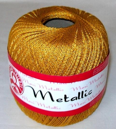 Háčkovací příze Maxi MT č.26351 žlutá + zlato