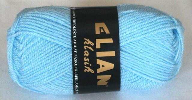 Pletací příze Elian Klasik č.3435 světle modrá