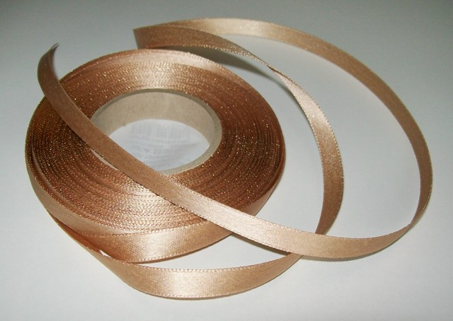 Atlasová stuha zlatá 10 mm - 5 m