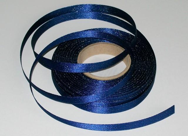 Atlasová stuha modrá 10 mm - 5 m