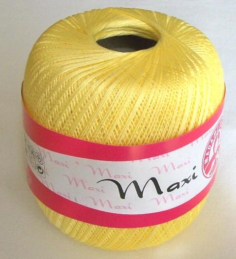 Háčkovací příze Maxi MT č.6303 světle žlutá