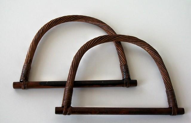 Ucha na tašky bambusová hnědá 13 x 18 cm