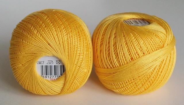 Háčkovací příze Sněhurka č. 1164 sytě žlutá