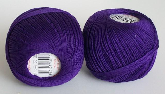 Háčkovací příze Sněhurka č. 4494 tmavě fialová