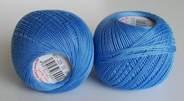 Háčkovací příze Sněhurka č. 5534 blankytná modř