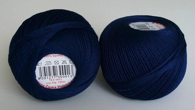 Háčkovací příze Sněhurka č. 5894 tmavě modrá