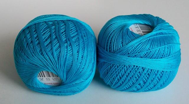 Háčkovací příze Sněhurka č. 5744 modrý tyrkys