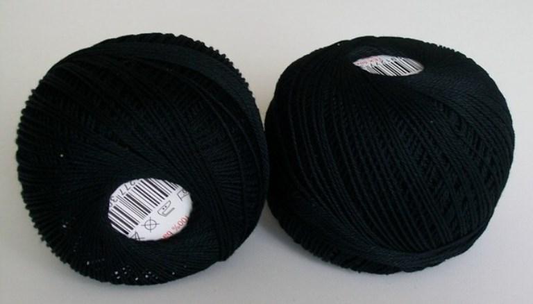 Háčkovací příze Sněhurka č. 9994 černá